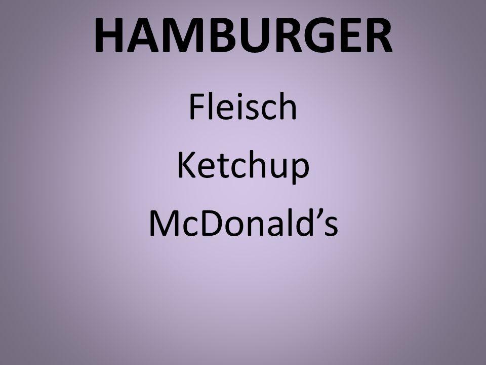 HAMBURGER Fleisch Ketchup McDonalds