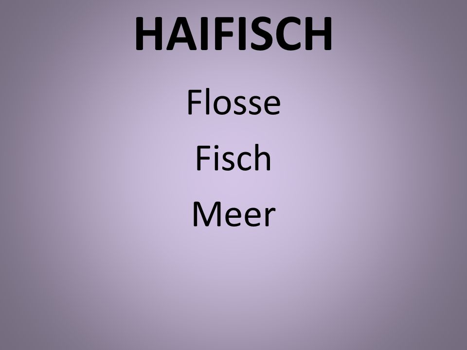 HAIFISCH Flosse Fisch Meer