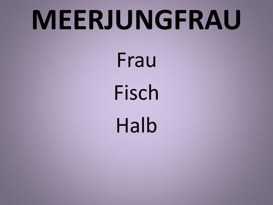 MEERJUNGFRAU Frau Fisch Halb