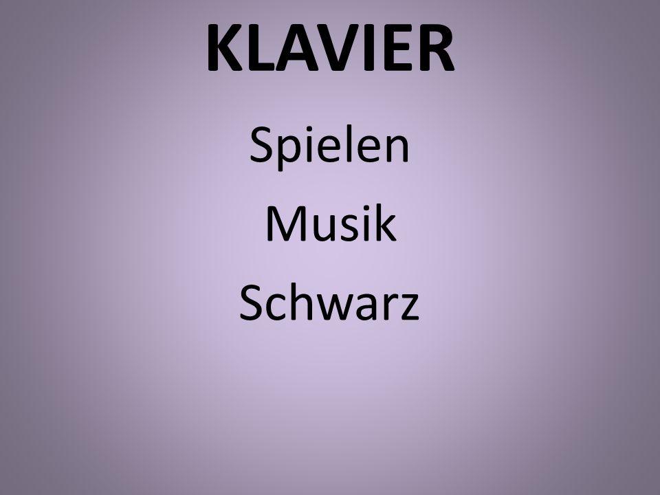 KLAVIER Spielen Musik Schwarz