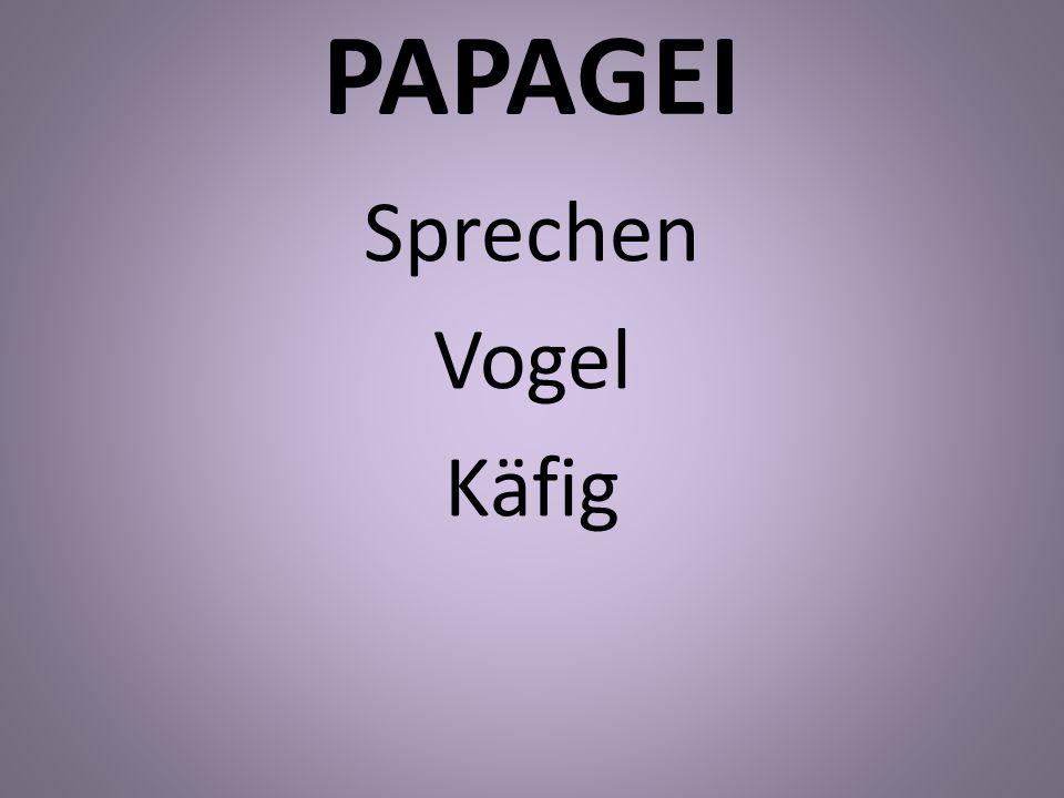 PAPAGEI Sprechen Vogel Käfig