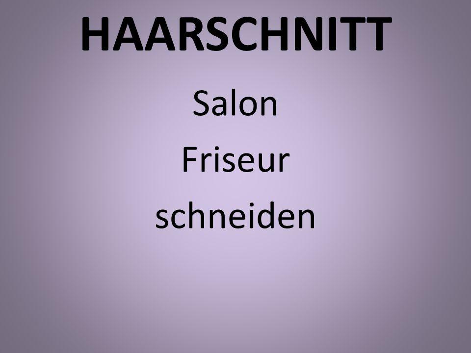 HAARSCHNITT Salon Friseur schneiden