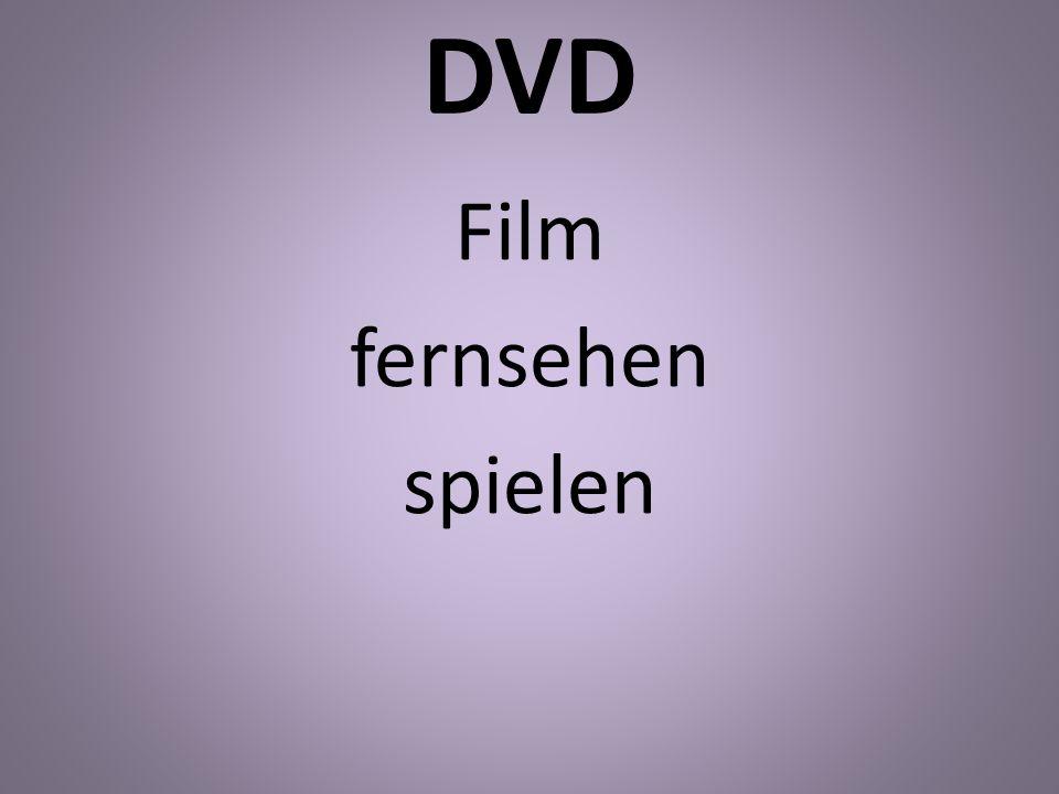 DVD Film fernsehen spielen