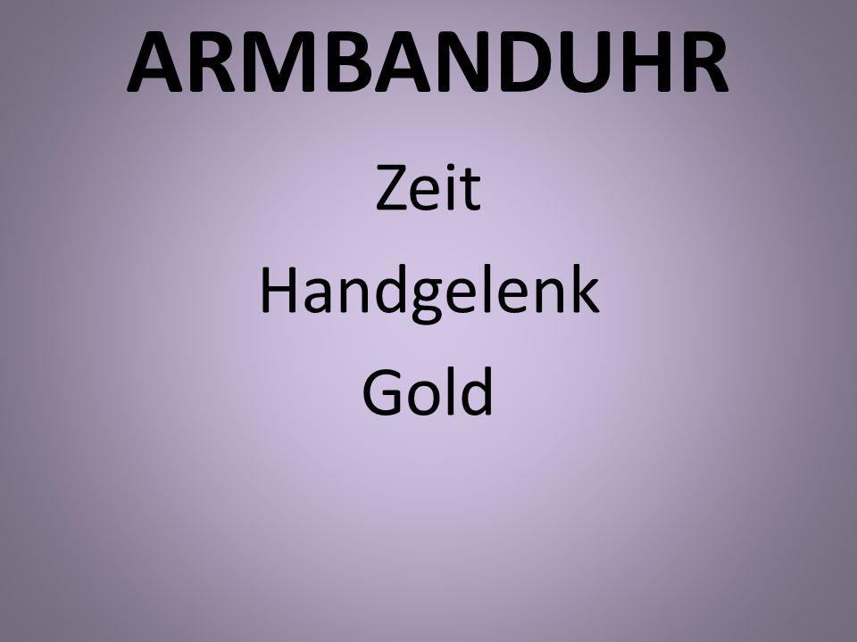 ARMBANDUHR Zeit Handgelenk Gold