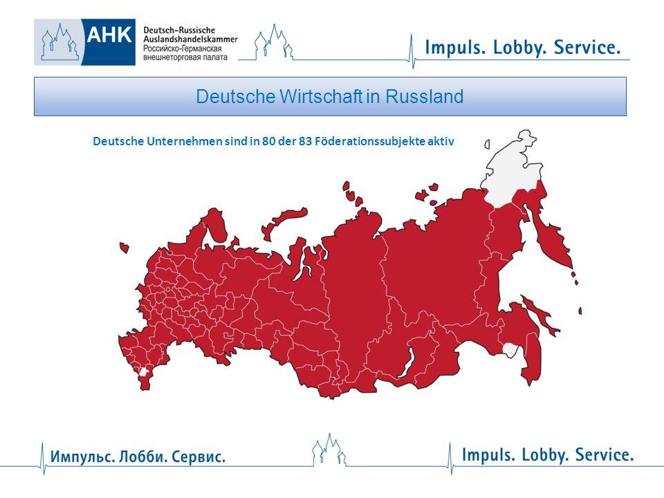 Deutsche Wirtschaft in Russland Republik Tatarstan Gebiet Swerdlowsk Gebiet Uljanowsk Gebiet Nowosibirsk St.