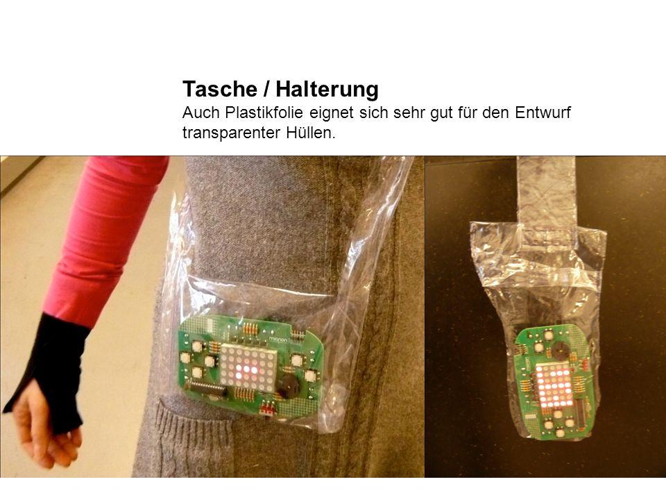 Tasche / Halterung Auch Plastikfolie eignet sich sehr gut für den Entwurf transparenter Hüllen.