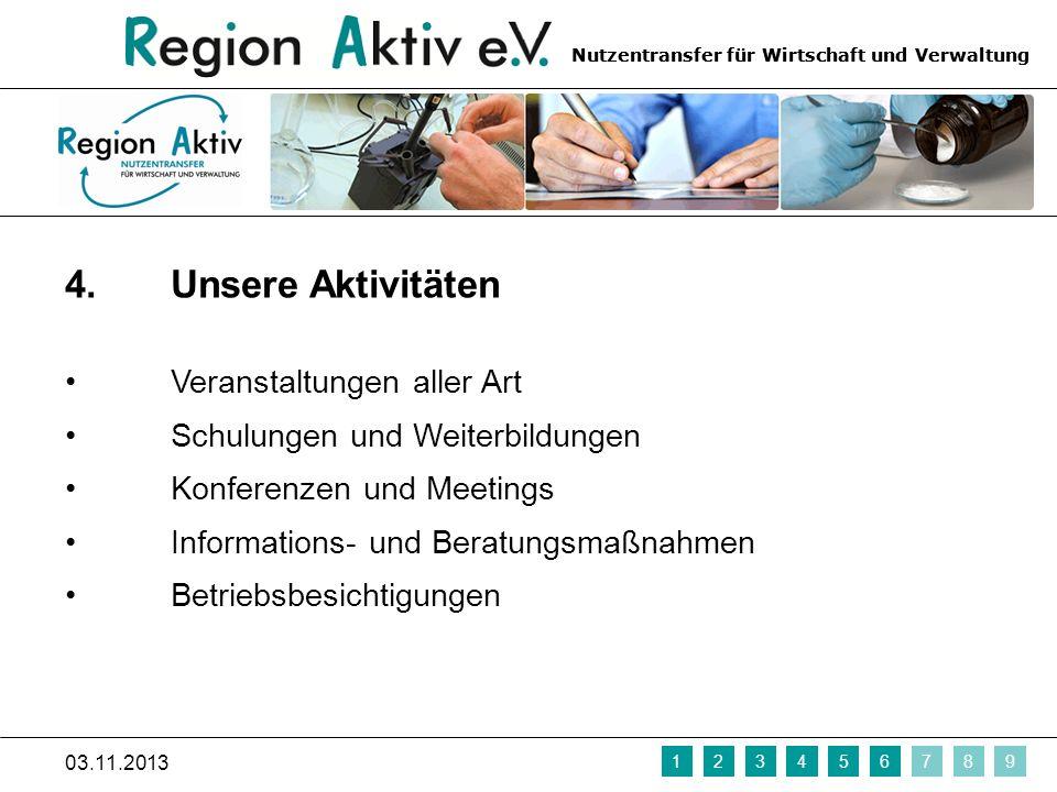 Nutzentransfer für Wirtschaft und Verwaltung 5.