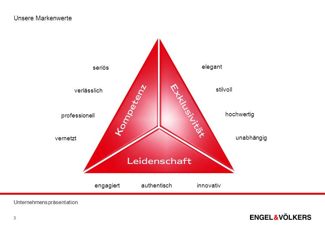 Unternehmenspräsentation 3 Unsere Markenwerte seriös verlässlich professionell vernetzt engagiertauthentischinnovativ elegant stilvoll hochwertig unab