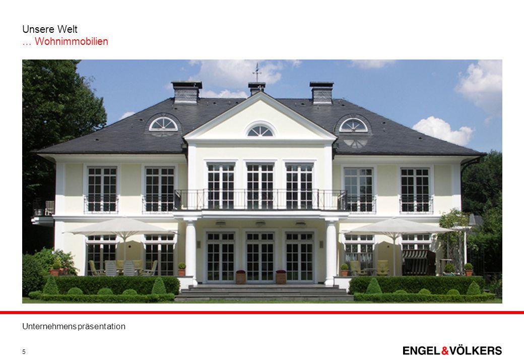 Unternehmenspräsentation 5 Unsere Welt … Wohnimmobilien