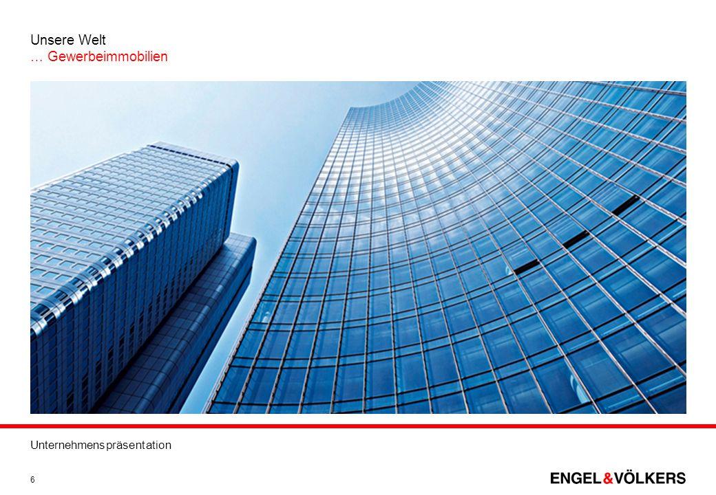 Unternehmenspräsentation 6 Unsere Welt … Gewerbeimmobilien