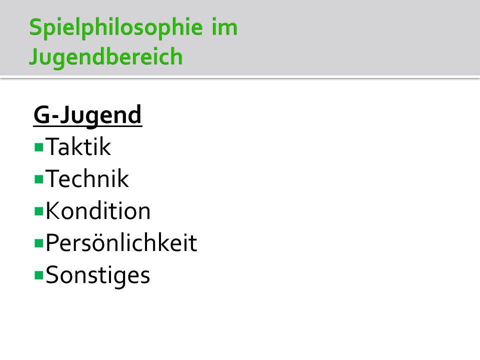 G-Jugend - Taktik Umfassende Bewegungsschulung Kleine Gruppen (z.B.