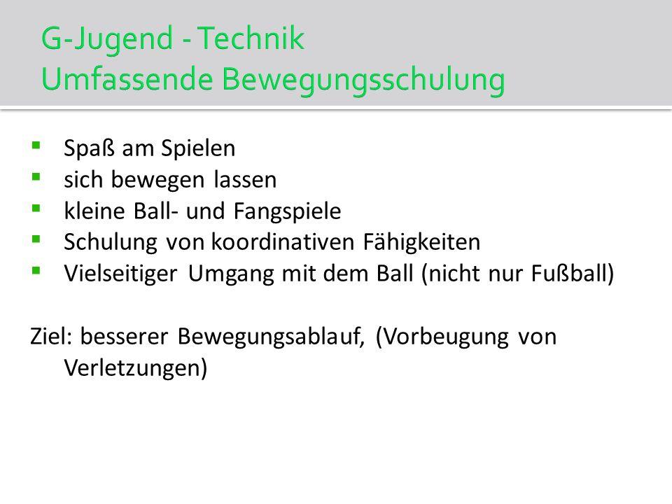 Trainingshäufigkeit 2 x wöchentlich Trainingsdauer: E-Jgd.