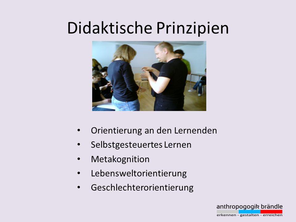 Didaktische Prinzipien Orientierung an den Lernenden Selbstgesteuertes Lernen Metakognition Lebensweltorientierung Geschlechterorientierung