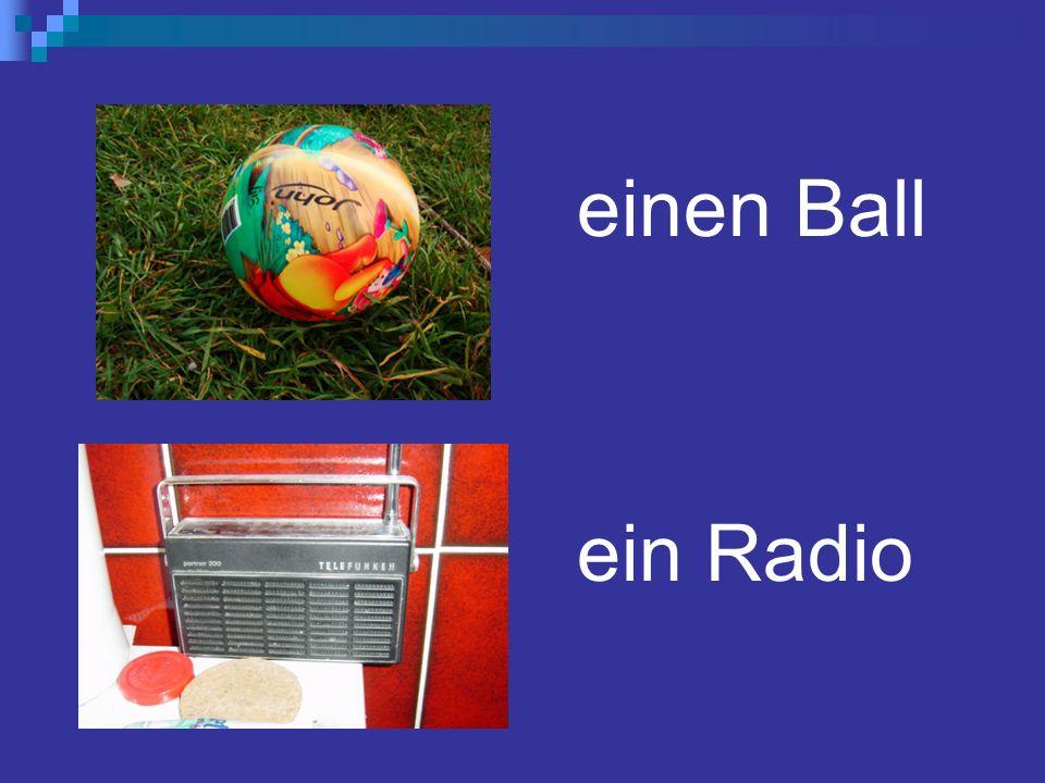 einen Ball ein Radio