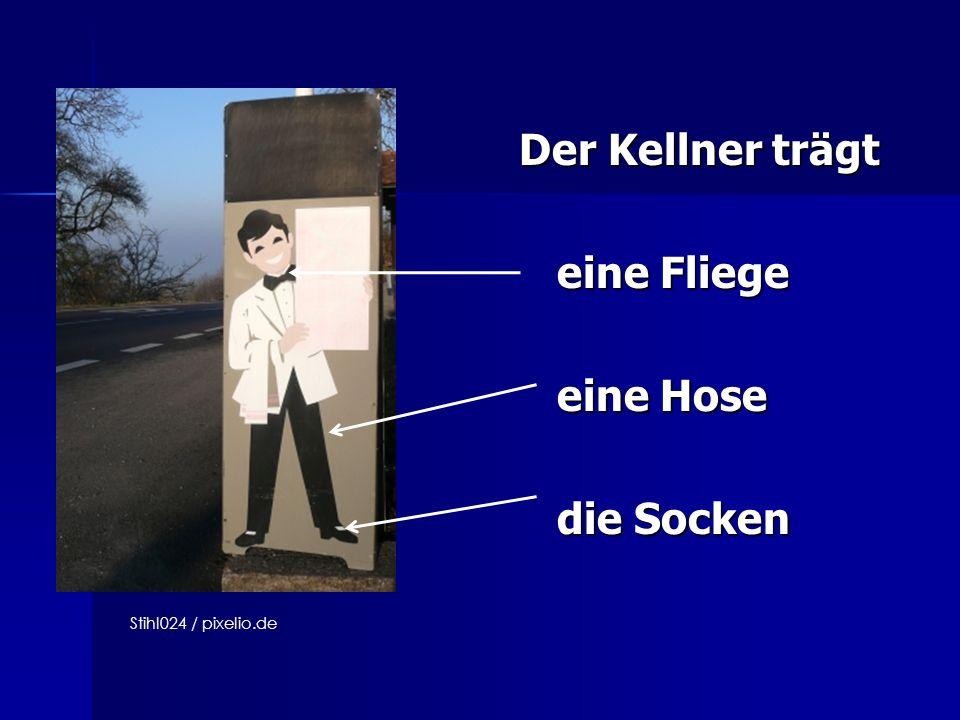 Der Kellner trägt Der Kellner trägt eine Fliege eine Fliege eine Hose eine Hose die Socken die Socken Stihl024 / pixelio.de