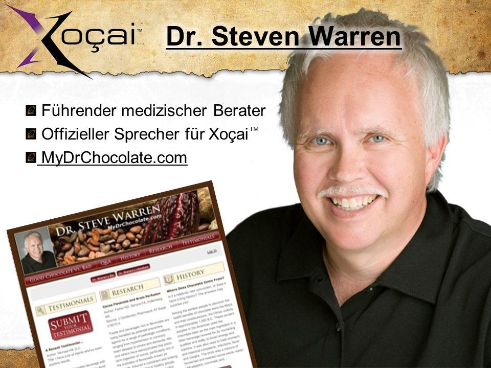 Führender medizischer Berater Offizieller Sprecher für Xoçai MyDrChocolate.com