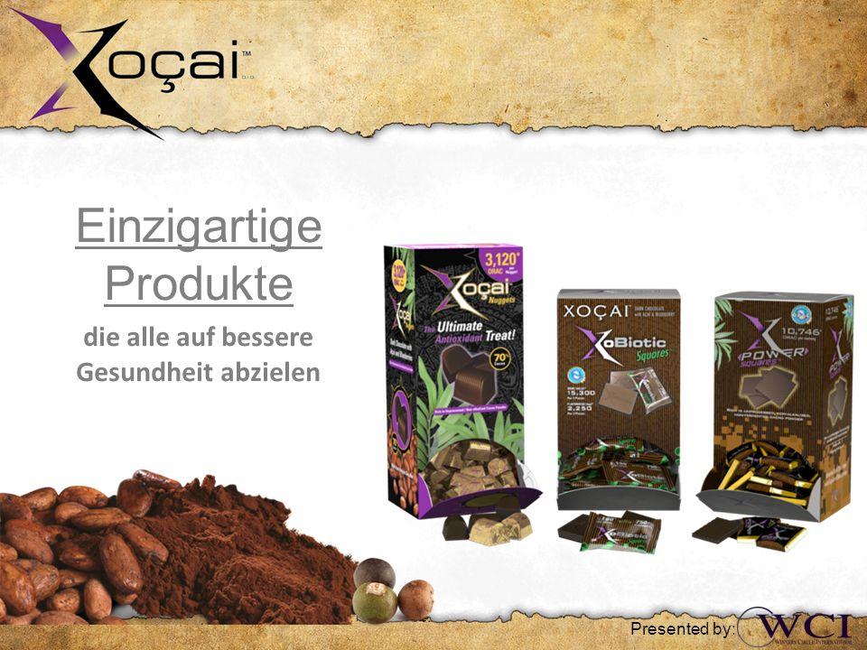 Einzigartige Produkte die alle auf bessere Gesundheit abzielen Presented by:
