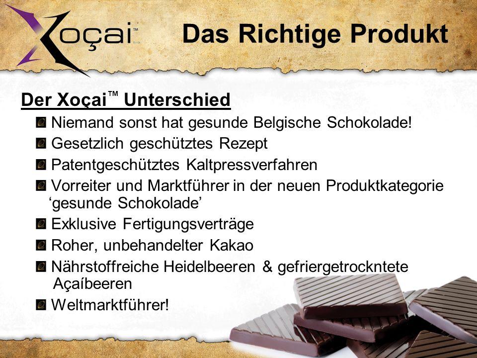 Das Richtige Produkt Der Xoçai Unterschied: Niemand sonst hat gesunde Belgische Schokolade.