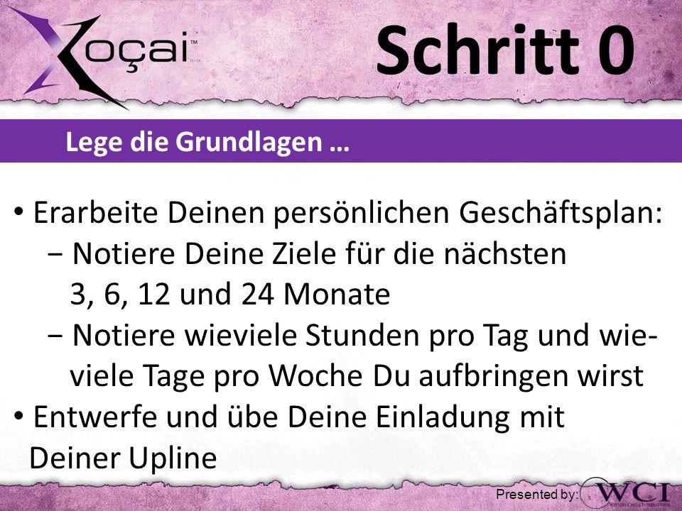 Schritt 5 Presented by: …und dupliziere