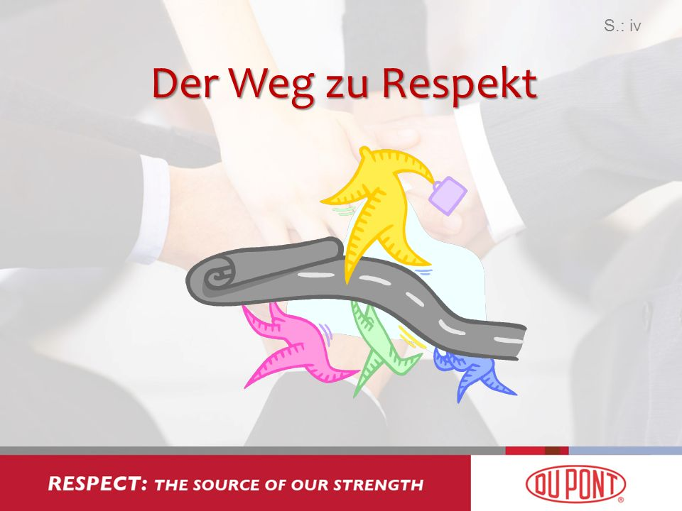 Respect: The Source of Our Strength ® –Die Voraussetzungen für Respekt schaffen –Unsere Denkweise: Wo alles beginnt –Einstellung: Eine Kernkompetenz –Respekt: Selbstachtung –Implementierung: Unser Weg nach vorn S.: v