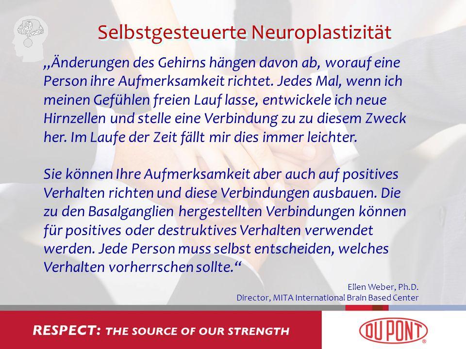 Selbstgesteuerte Neuroplastizität Änderungen des Gehirns hängen davon ab, worauf eine Person ihre Aufmerksamkeit richtet. Jedes Mal, wenn ich meinen G