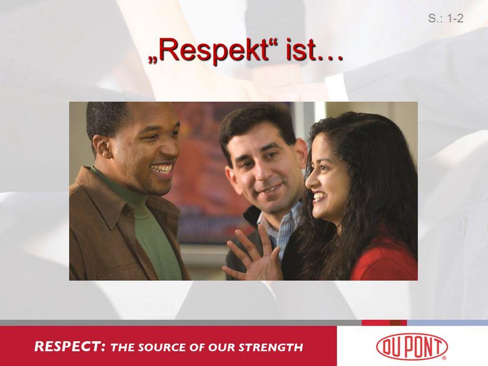 Wie manifestiert sich Respektlosigkeit? 1 S.: 2-1