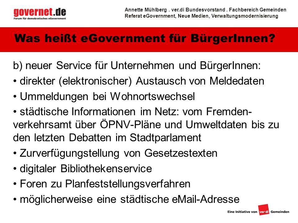 5 b) neuer Service für Unternehmen und BürgerInnen: direkter (elektronischer) Austausch von Meldedaten Ummeldungen bei Wohnortswechsel städtische Info