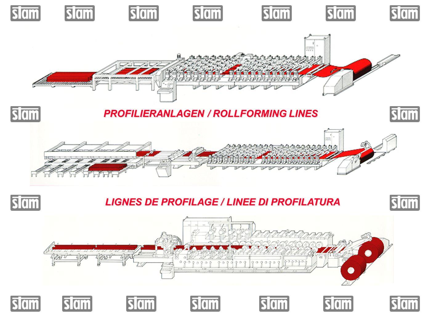 PROFILIERANLAGEN / ROLLFORMING LINES LIGNES DE PROFILAGE / LINEE DI PROFILATURA