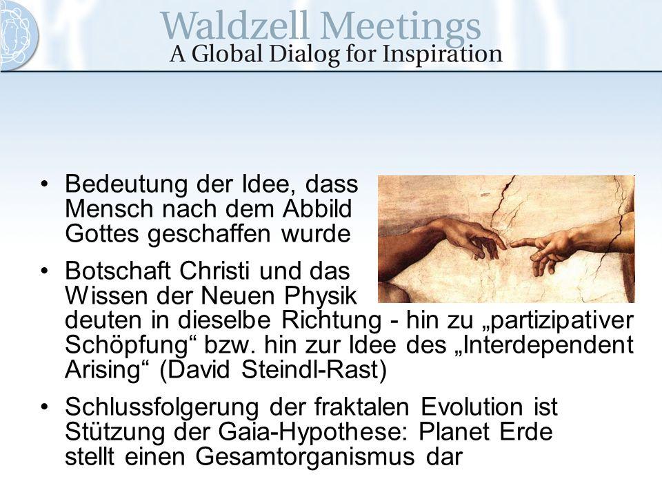 Bedeutung der Idee, dass Mensch nach dem Abbild Gottes geschaffen wurde Botschaft Christi und das Wissen der Neuen Physik deuten in dieselbe Richtung