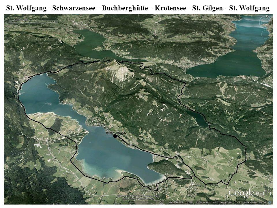 St. Wolfgang - Schwarzensee - Buchberghütte - Krotensee - St. Gilgen - St. Wolfgang