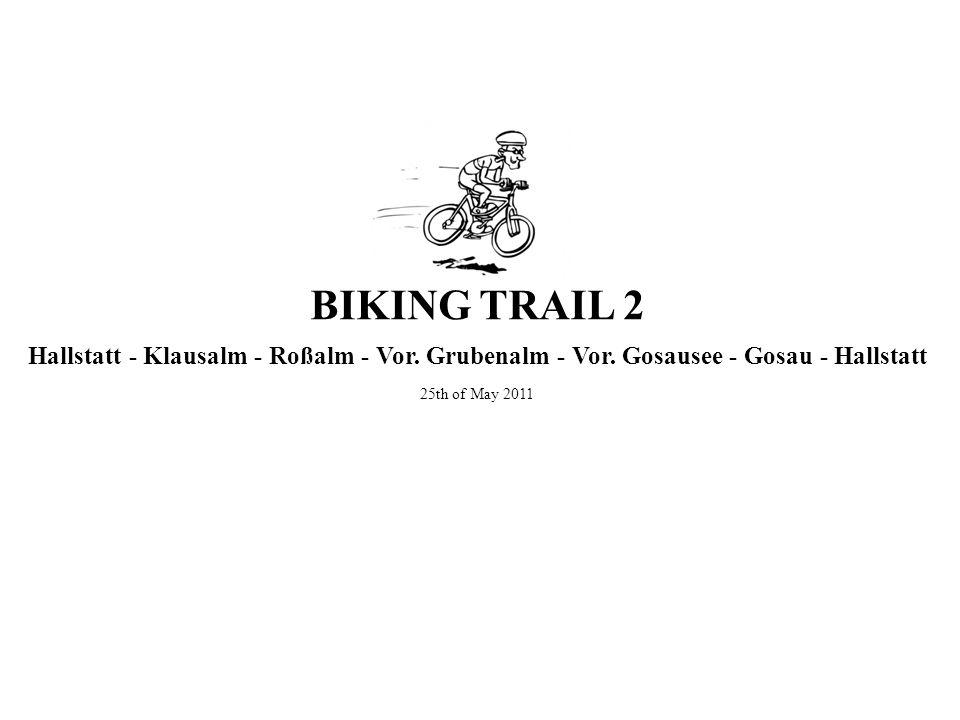 Hallstatt - Klausalm - Roßalm - Vor. Grubenalm - Vor. Gosausee - Gosau - Hallstatt 25th of May 2011 BIKING TRAIL 2