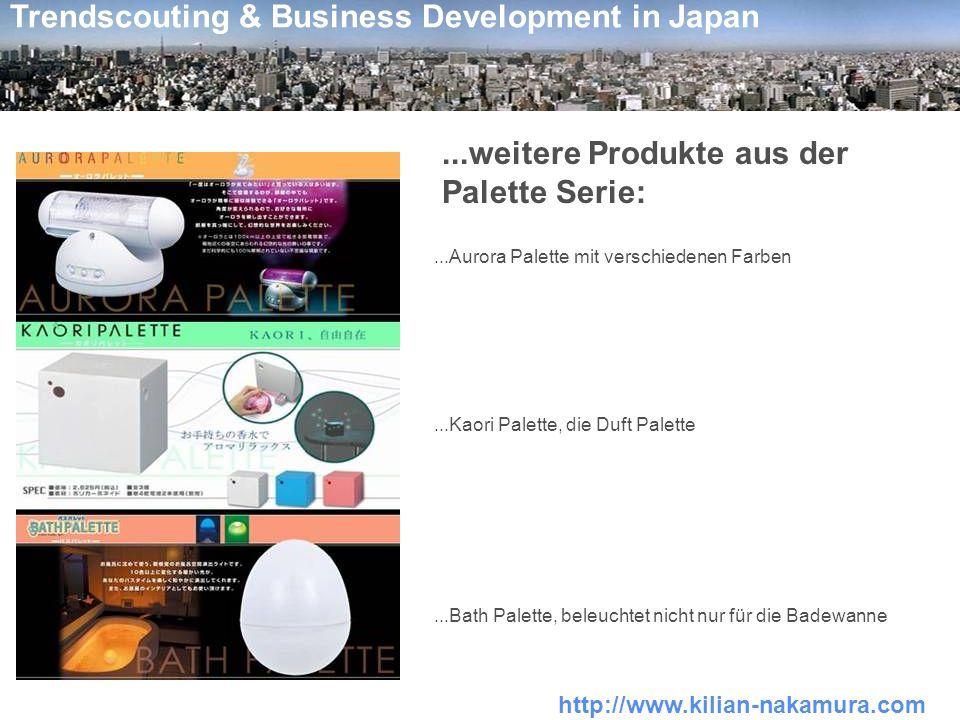 http://www.kilian-nakamura.com Trendscouting & Business Development in Japan...weitere Produkte aus der Palette Serie:...Aurora Palette mit verschiede
