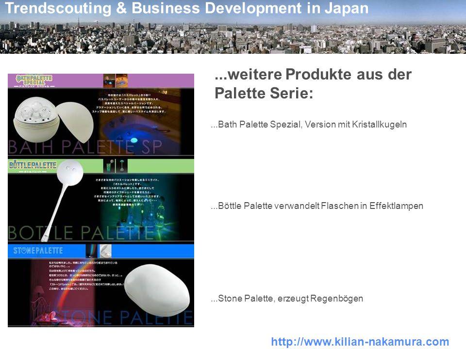 http://www.kilian-nakamura.com Trendscouting & Business Development in Japan...weitere Produkte aus der Palette Serie:...Bath Palette Spezial, Version