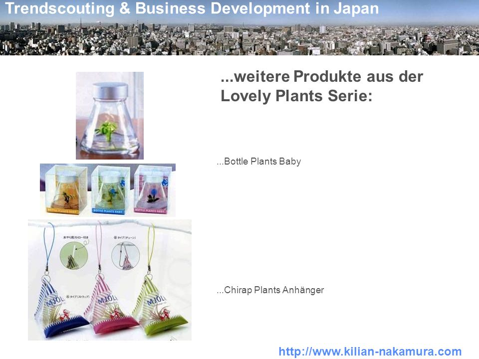 http://www.kilian-nakamura.com Trendscouting & Business Development in Japan...weitere Produkte aus der Lovely Plants Serie:...Bottle Plants Baby...Chirap Plants Anhänger