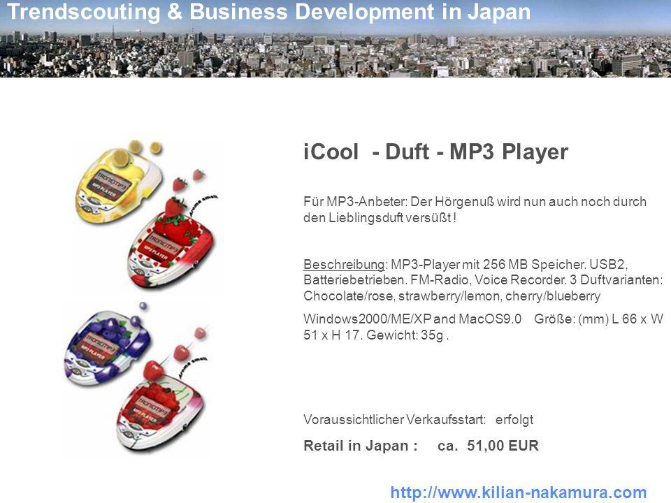 http://www.kilian-nakamura.com Trendscouting & Business Development in Japan USB - Fußwärmer Nie wieder kalte Füße während der Arbeit am Computer.