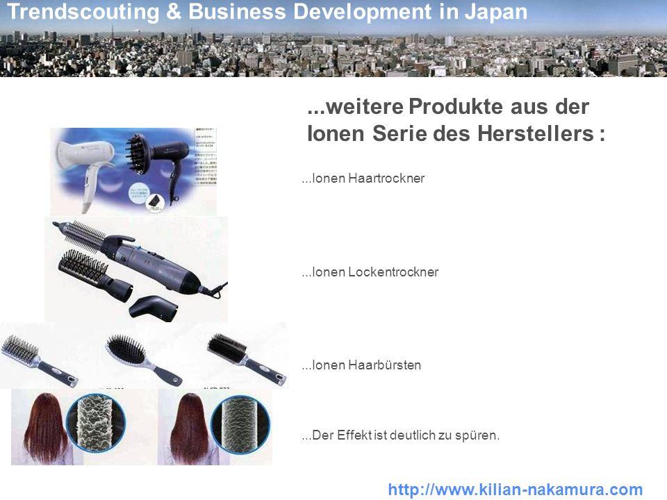 http://www.kilian-nakamura.com Trendscouting & Business Development in Japan...weitere Produkte aus der Ionen Serie des Herstellers :...Ionen Haartroc