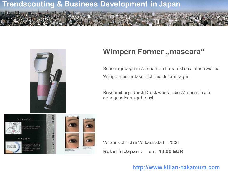 http://www.kilian-nakamura.com Trendscouting & Business Development in Japan Wimpern Former mascara Schöne gebogene Wimpern zu haben ist so einfach wi