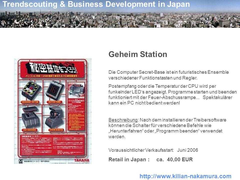 http://www.kilian-nakamura.com Trendscouting & Business Development in Japan Soundpets - hier tanzt der Bär .