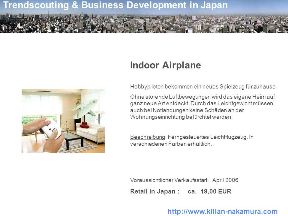 http://www.kilian-nakamura.com Trendscouting & Business Development in Japan Indoor Airplane Hobbypiloten bekommen ein neues Spielzeug für zuhause. Oh