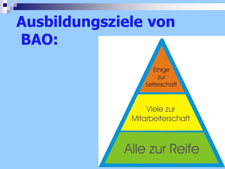 Ausbildungsziele von BAO: