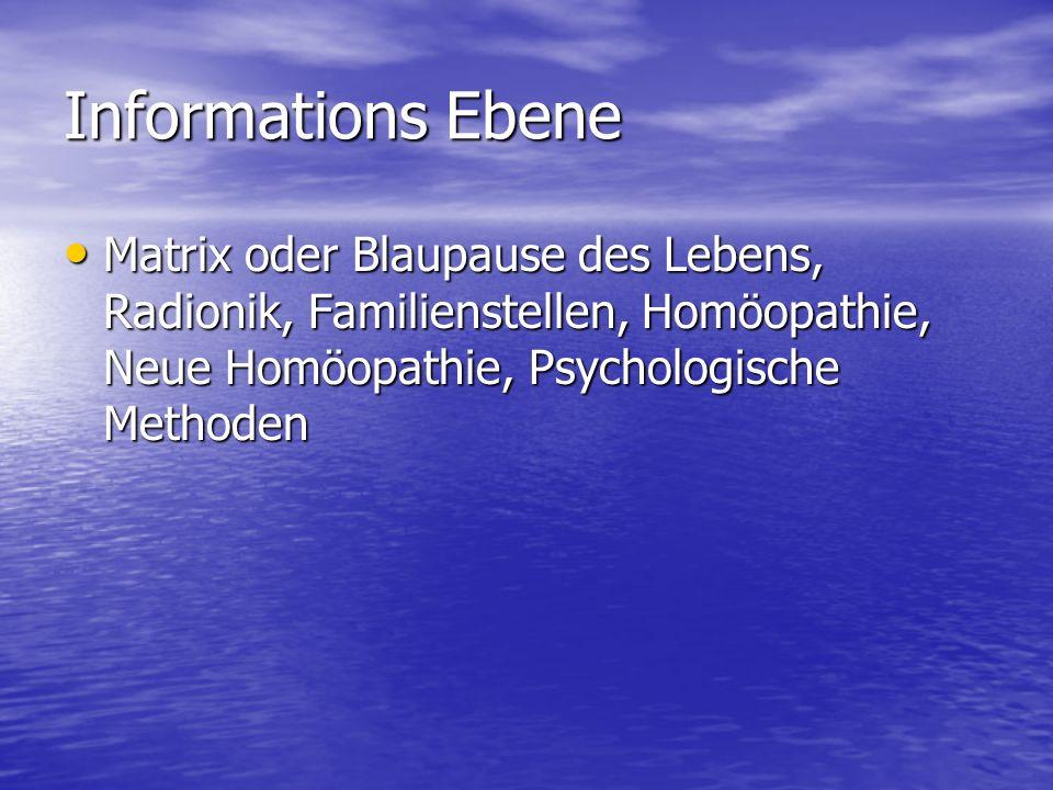 Informations Ebene Matrix oder Blaupause des Lebens, Radionik, Familienstellen, Homöopathie, Neue Homöopathie, Psychologische Methoden Matrix oder Bla