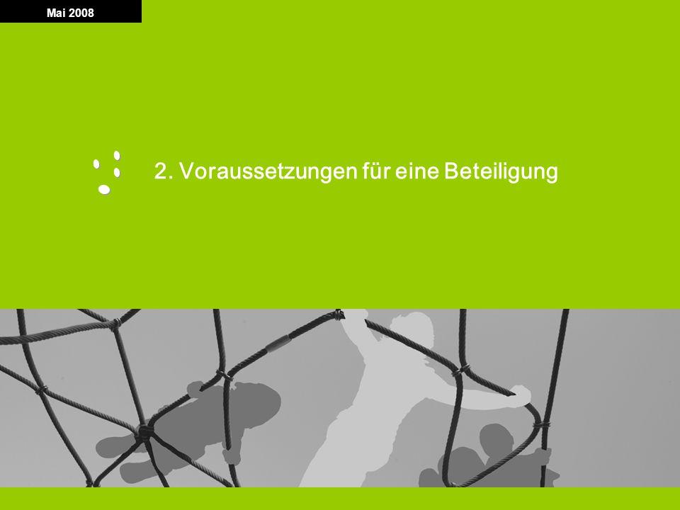 T G F S Technologiegründerfonds Sachsen 5 Mai 2008 2. Voraussetzungen für eine Beteiligung