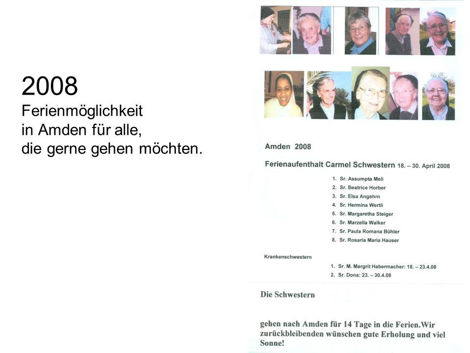 2008 Ferienmöglichkeit in Amden für alle, die gerne gehen möchten.