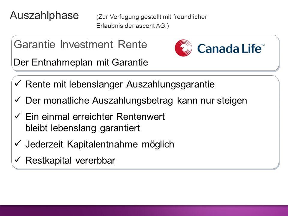 Garantie Investment Rente Der Entnahmeplan mit Garantie Garantie Investment Rente Der Entnahmeplan mit Garantie Rente mit lebenslanger Auszahlungsgara