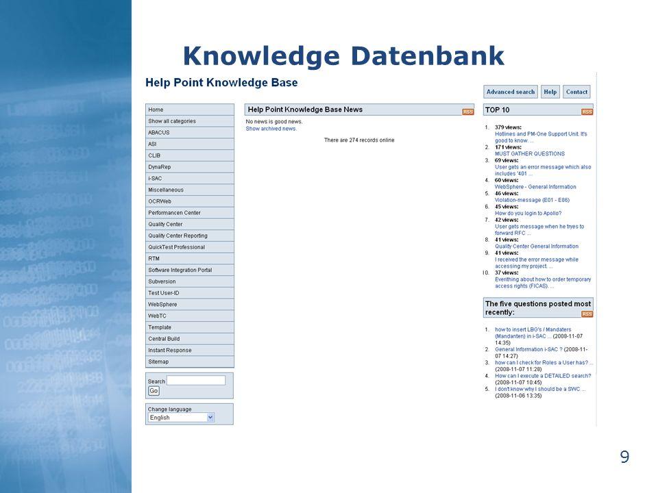 10 Knowledge Datenbank