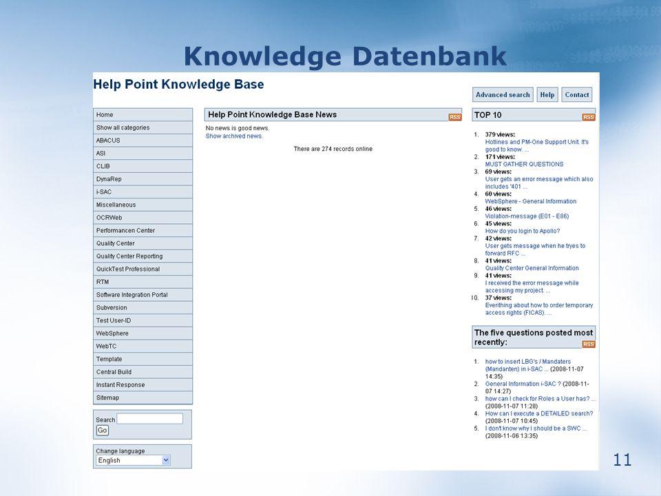 11 Knowledge Datenbank