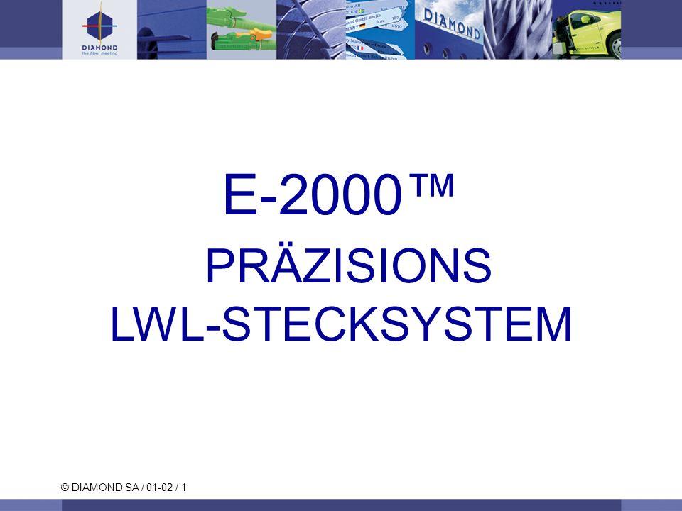 © DIAMOND SA / 01-02 / 1 E-2000 PRÄZISIONS LWL-STECKSYSTEM