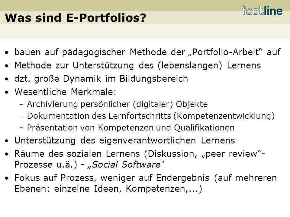 Was sind E-Portfolios.