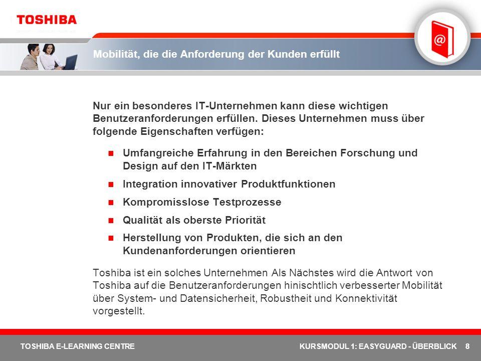 Überblick über Toshiba EasyGuard – Lektion 2 Lektion 2 Was ist Toshiba EasyGuard.