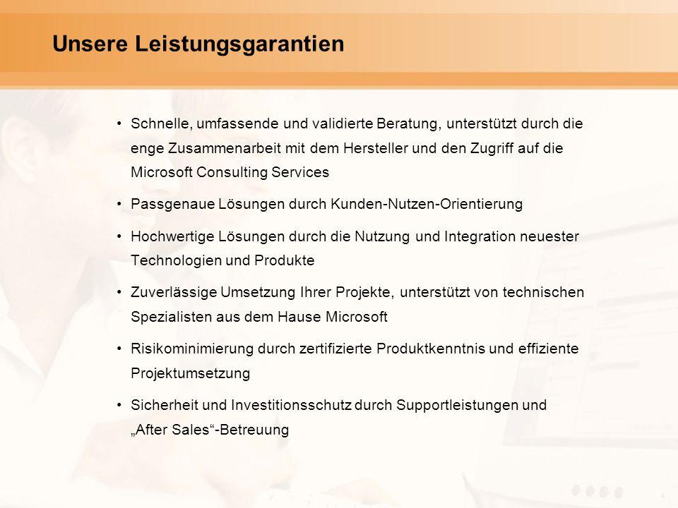 Schnelle, umfassende und validierte Beratung, unterstützt durch die enge Zusammenarbeit mit dem Hersteller und den Zugriff auf die Microsoft Consultin